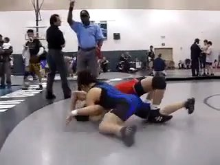 Strong Woman Pins a Man - Competitive Mixed...