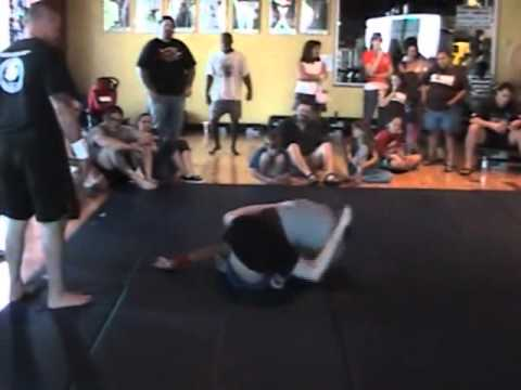 Girl beats school of boy grapplers...wmv