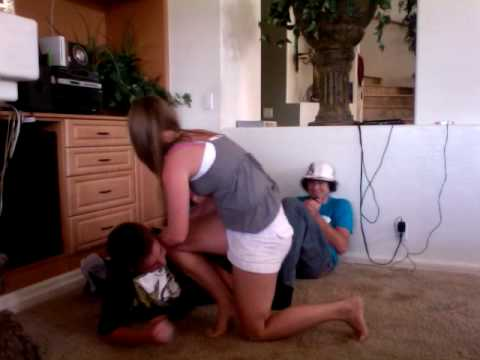 wrestling my cousin