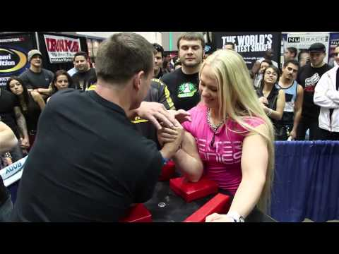 HOT: World Champion Armwrestler Sarah Backman Vs...