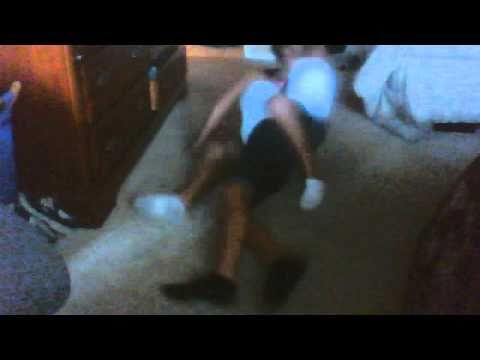 Twin sisters play-wrestle