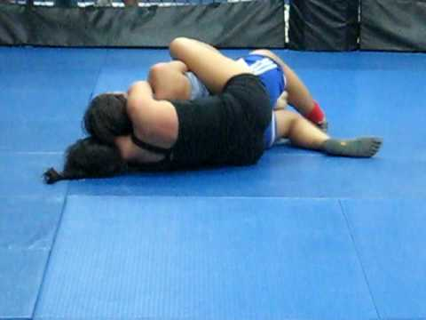 Bianca's first grappling match