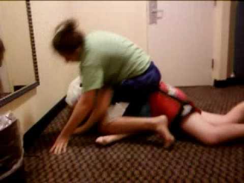 kid gets dominated by a girl in wrestling