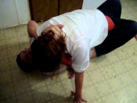 Brother sister wrestling