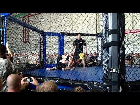 Army week of the eagles(Girl beats guy in cage...